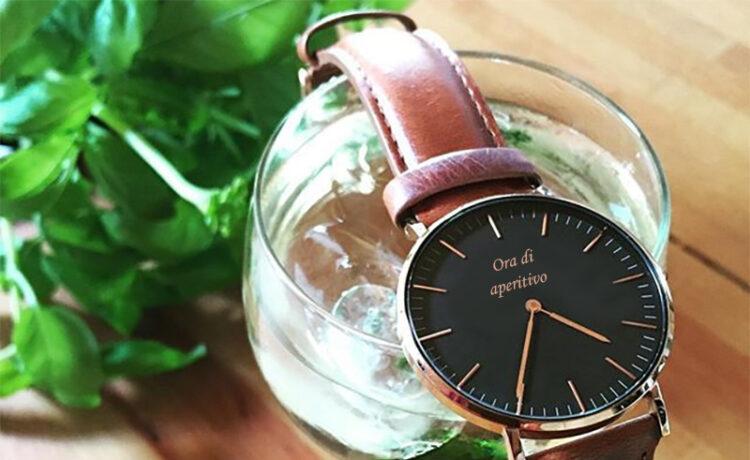 orologi con l'ora per l'aperitivo